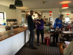 Richard Ellis receiving cheque from Iver Golf Club